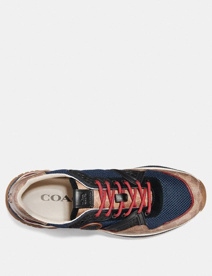 Coach C143 Runner With Coach Patch Blue/Multi Men Shoes Trainers Alternate View 2