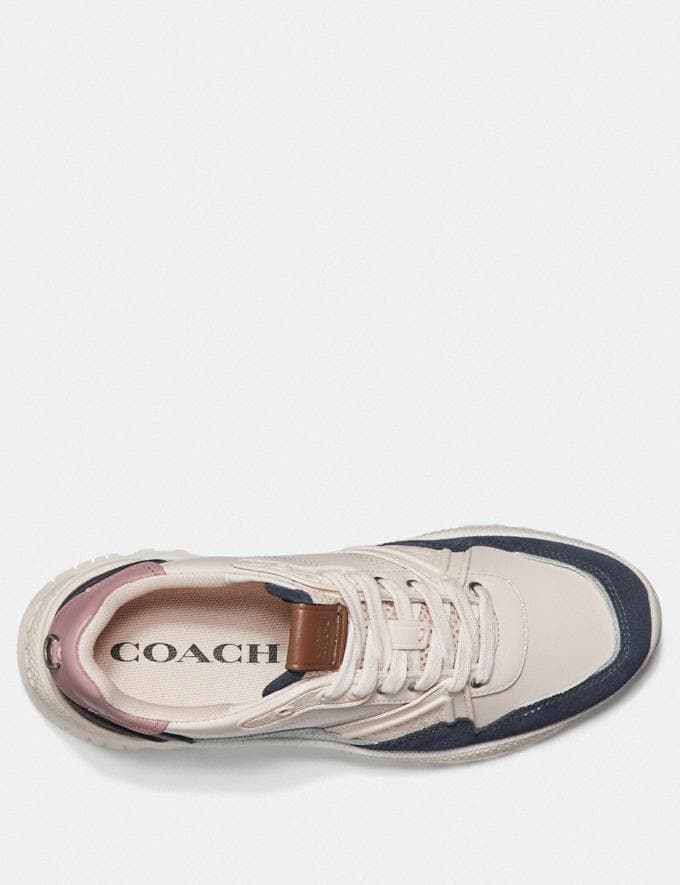 Coach C143 Runner Chalk/Dusty Rose Women Shoes Trainers Alternate View 2