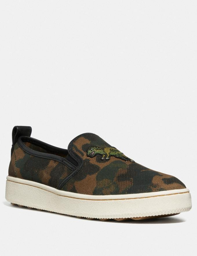 Coach C115 Slip on With Wild Beast Print Wild Beast New Men's New Arrivals Shoes
