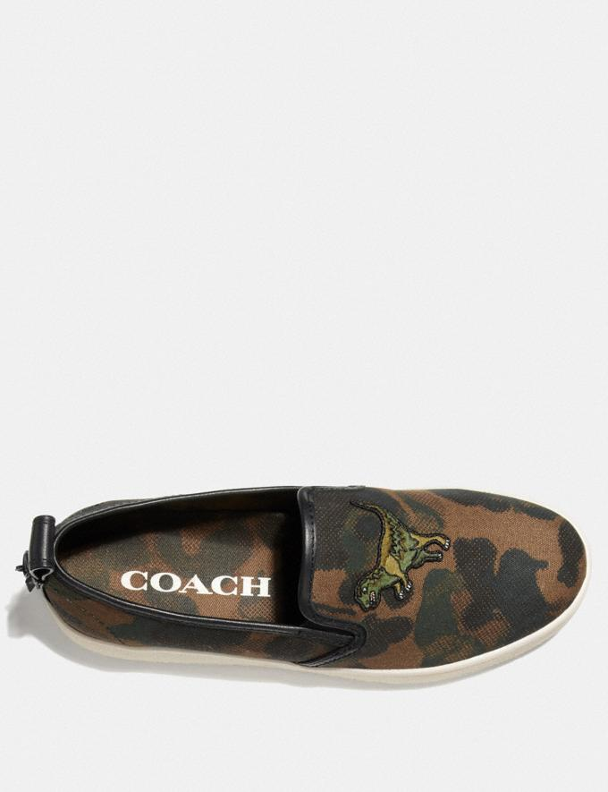 Coach C115 Slip on With Wild Beast Print Wild Beast New Men's New Arrivals Shoes Alternate View 2