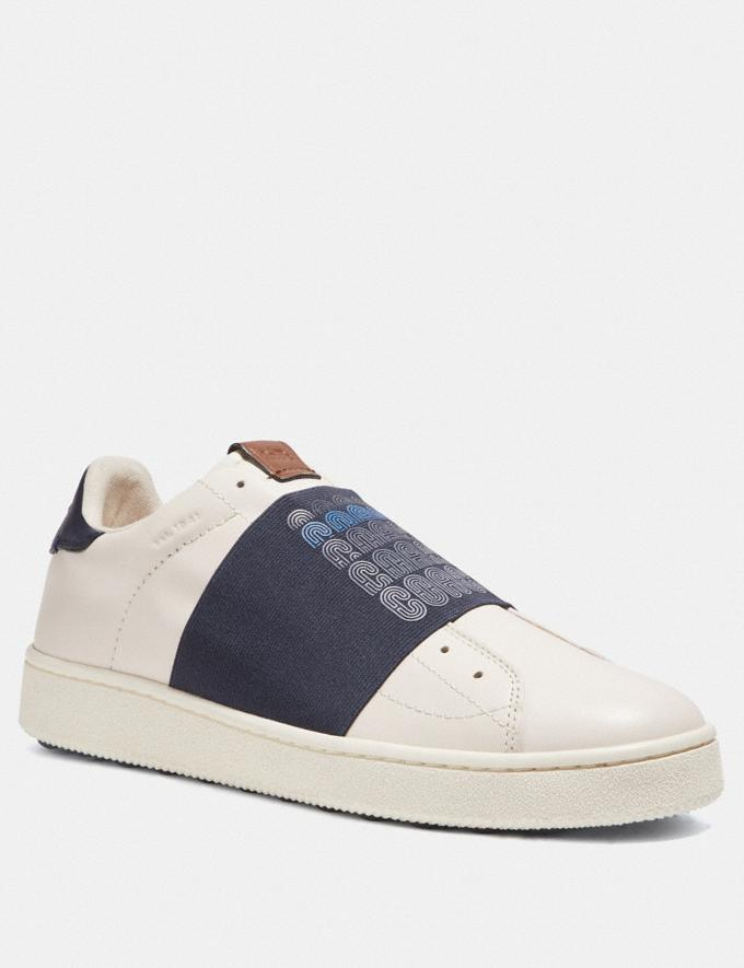 Coach C101 Banded Strap Sneaker Navy Men Shoes Trainers