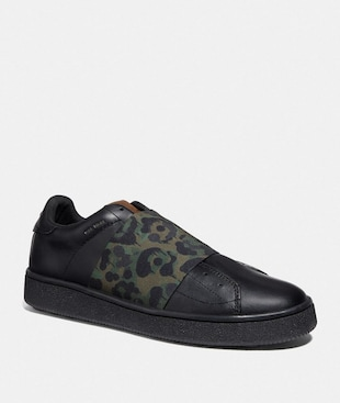 C101 BANDED STRAP SNEAKER WITH WILD BEAST PRINT