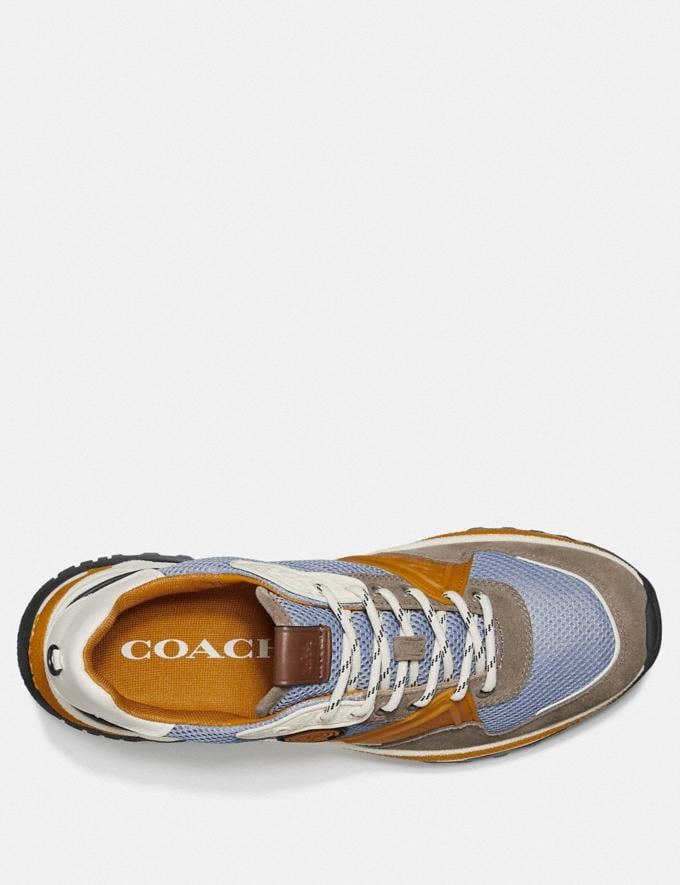 Coach C143 Runner in Colorblock Blue/Yellow Men Shoes Sneakers Alternate View 2