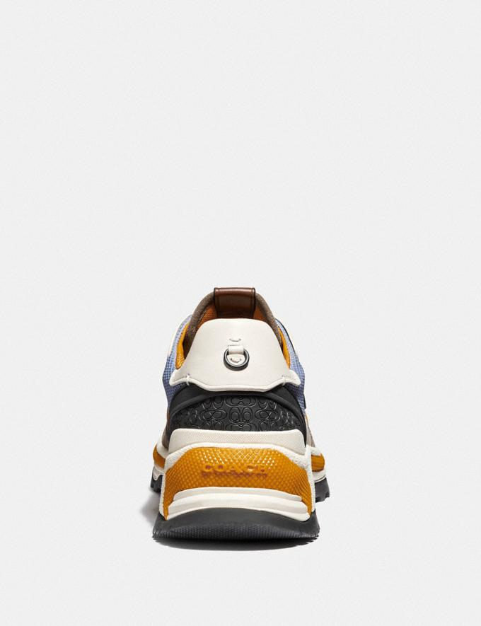 Coach C143 Runner in Colorblock Blue/Yellow  Alternate View 3