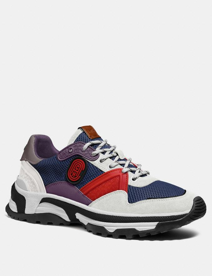 Coach C143 Runner in Colorblock Blue/Red