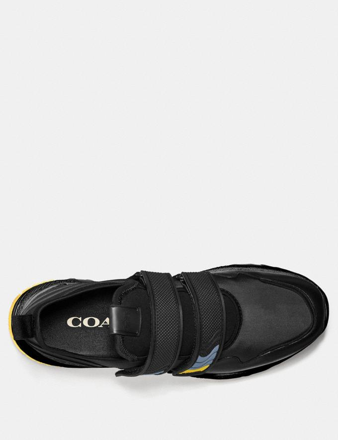 Coach C143 Two Strap Runner Black  Alternate View 2