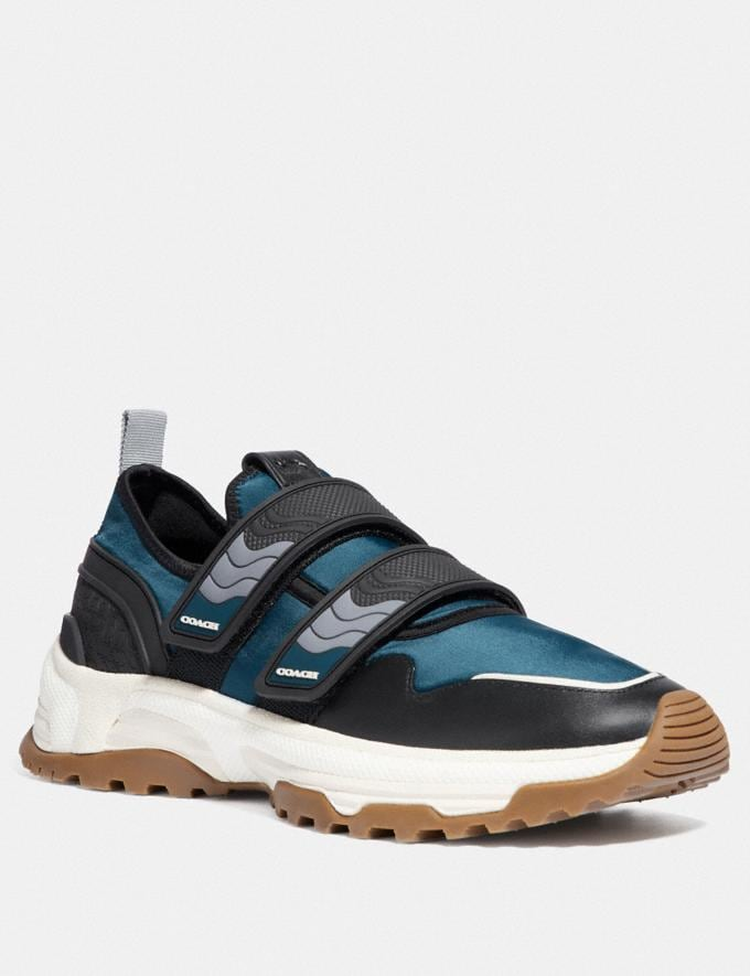 Coach C143 Two Strap Runner Blue/Multi New Men's New Arrivals Shoes