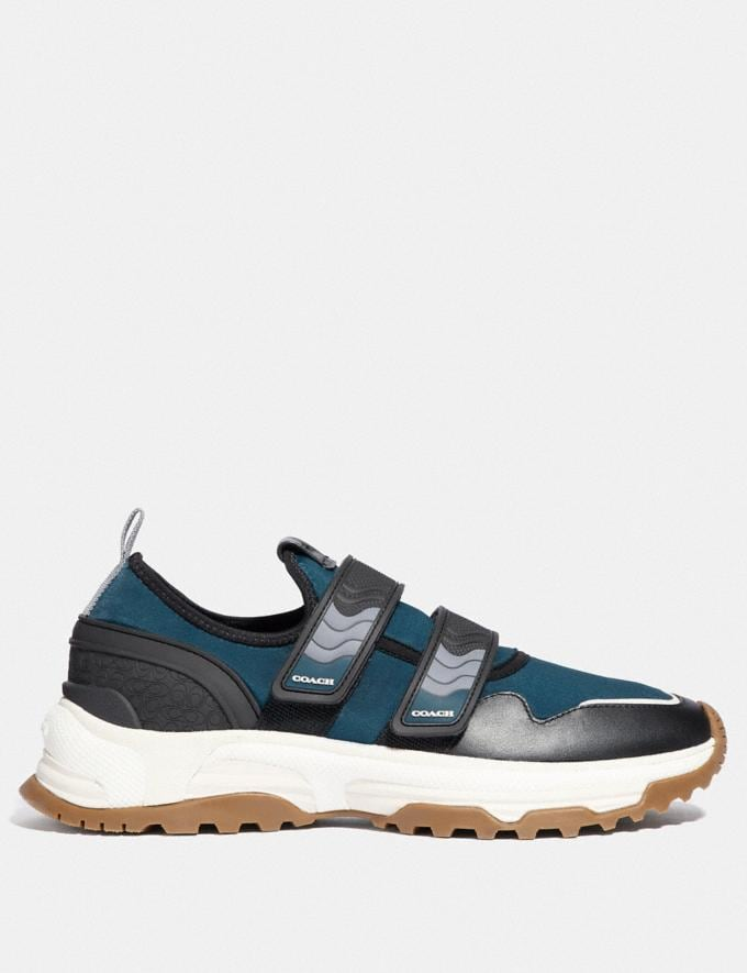 Coach C143 Two Strap Runner Blue/Multi New Men's New Arrivals Shoes Alternate View 1