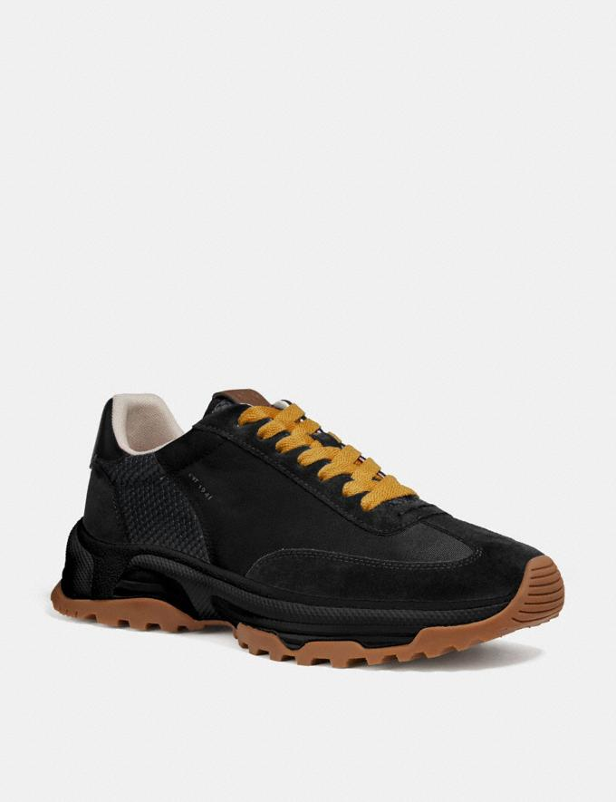Coach C155 Paneled Runner Black Multi Men Shoes Trainers