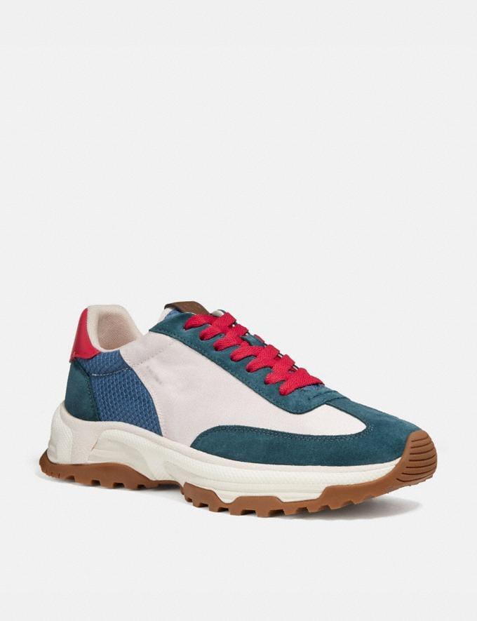 Coach C155 Paneled Runner Blue/White New Men's New Arrivals Shoes
