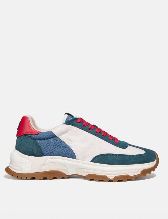 Coach C155 Paneled Runner Blue/White New Men's New Arrivals Shoes Alternate View 1