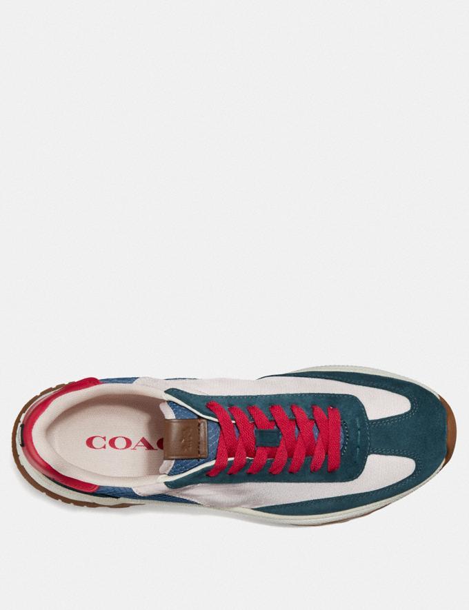 Coach C155 Paneled Runner Blue/White New Men's New Arrivals Shoes Alternate View 2