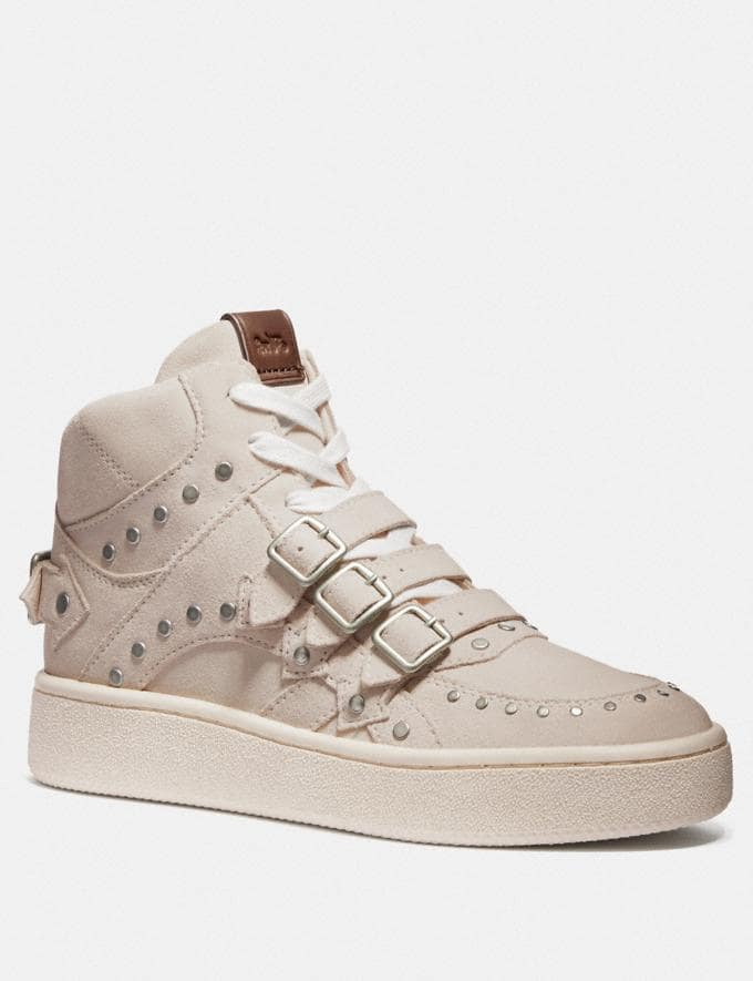 Coach C219 High Top Sneaker Oat/Beechwood/Pale Blush