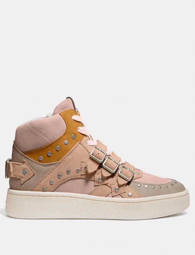 Coach C219 High Top Sneaker Oat/Beechwood/Pale Blush  Alternate View 1