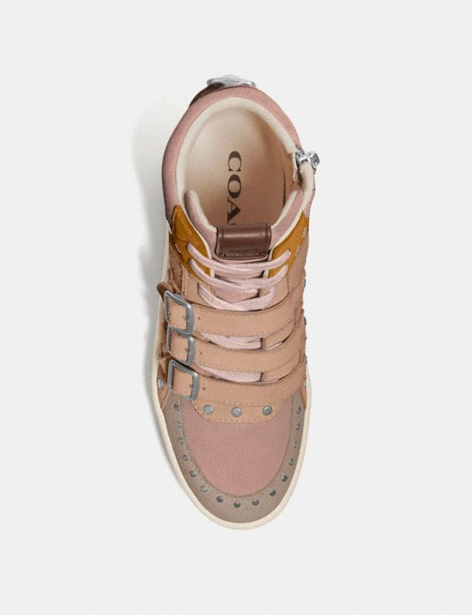 Coach C219 High Top Sneaker Oat/Beechwood/Pale Blush  Alternate View 2