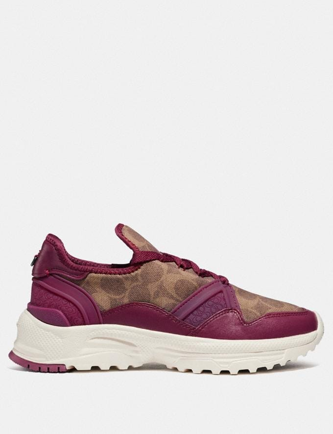 Coach C150 Runner Berry/Tan Cyber Monday Women's Cyber Monday Sale Shoes Alternate View 1