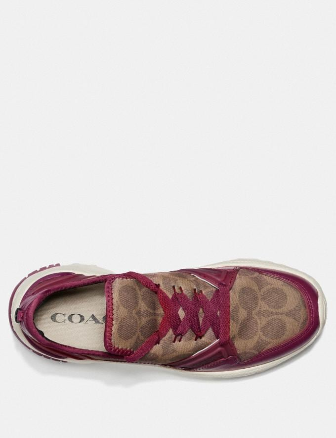 Coach C150 Runner Berry/Tan Women Shoes Trainers Alternate View 2