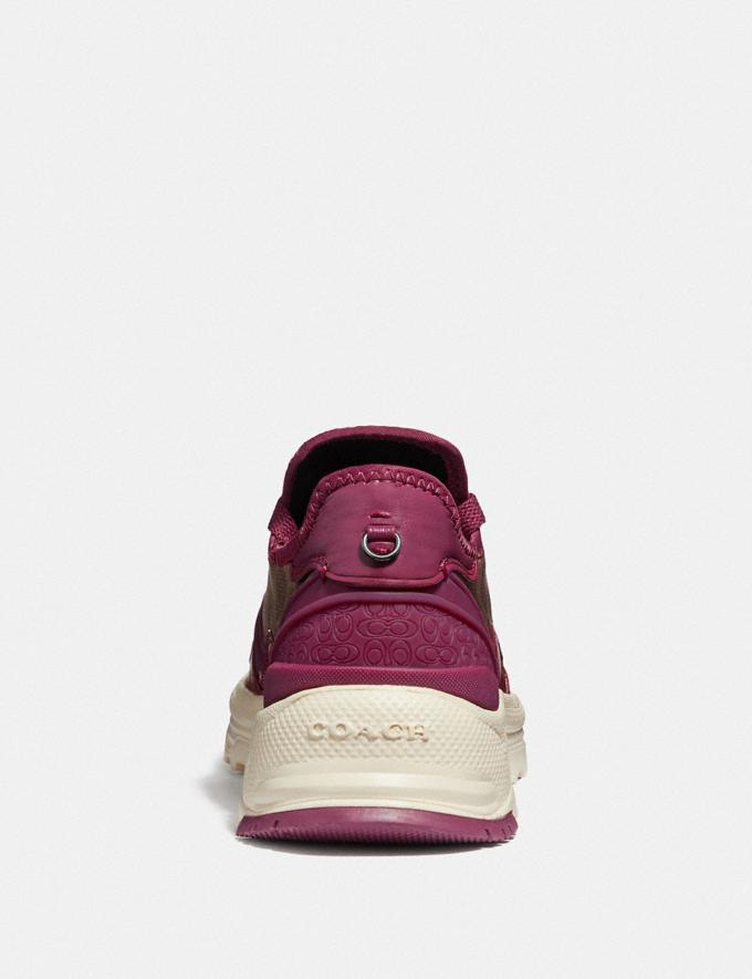 Coach C150 Runner Berry/Tan  Alternate View 3