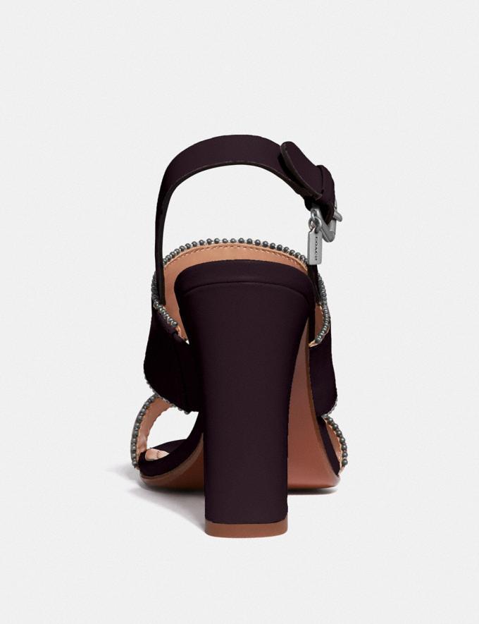 Coach Rylie Sandal Oxblood SALE Women's Sale Shoes Alternate View 3