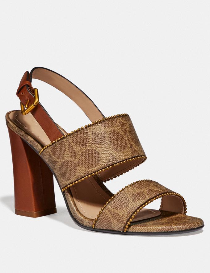 Coach Rylie Sandal Tan/Saddle Women Shoes Sandals