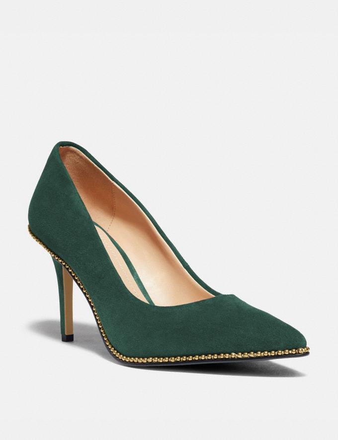 Coach Waverly Pump Dark Jade Women Shoes Heels