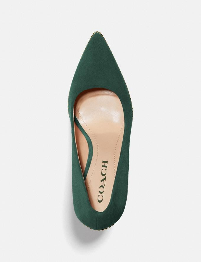 Coach Waverly Pump Dark Jade Women Shoes Heels Alternate View 2