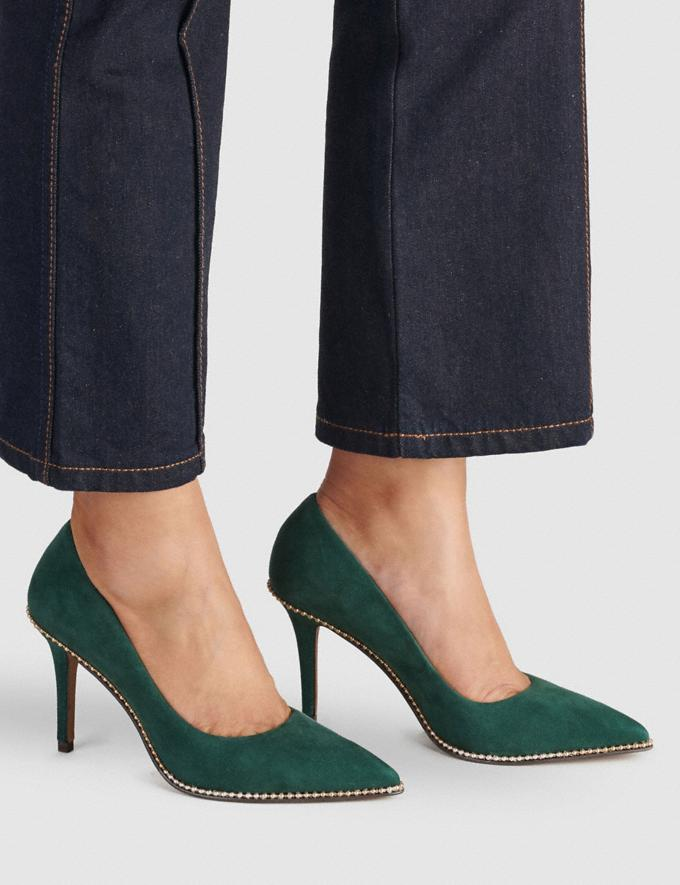 Coach Waverly Pumps Dunkle Jade Damen Schuhe High Heels Alternative Ansicht 4