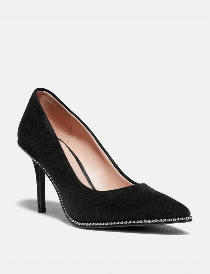 Coach Waverly Pump Black New Women's New Arrivals Shoes