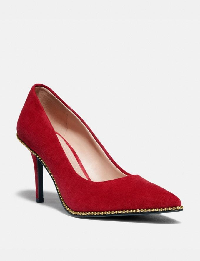 Coach Waverly Pump 1941 Red Women Shoes Heels