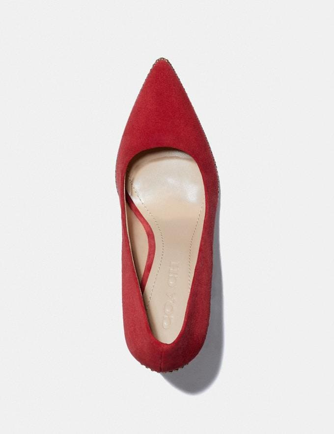 Coach Waverly Pump 1941 Red Women Shoes Heels Alternate View 2