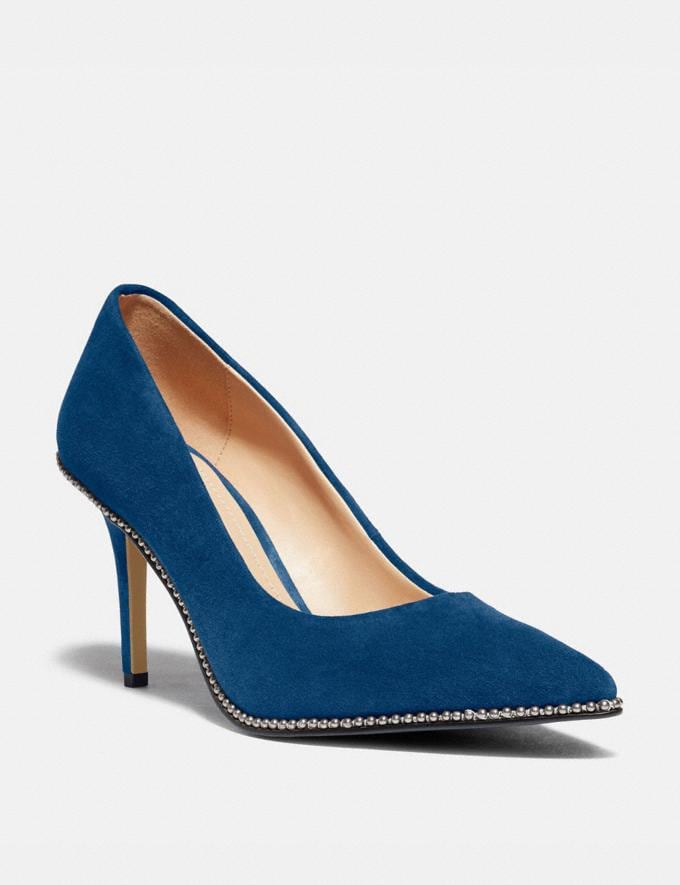 Coach Waverly Pump Ocean Women Shoes Heels