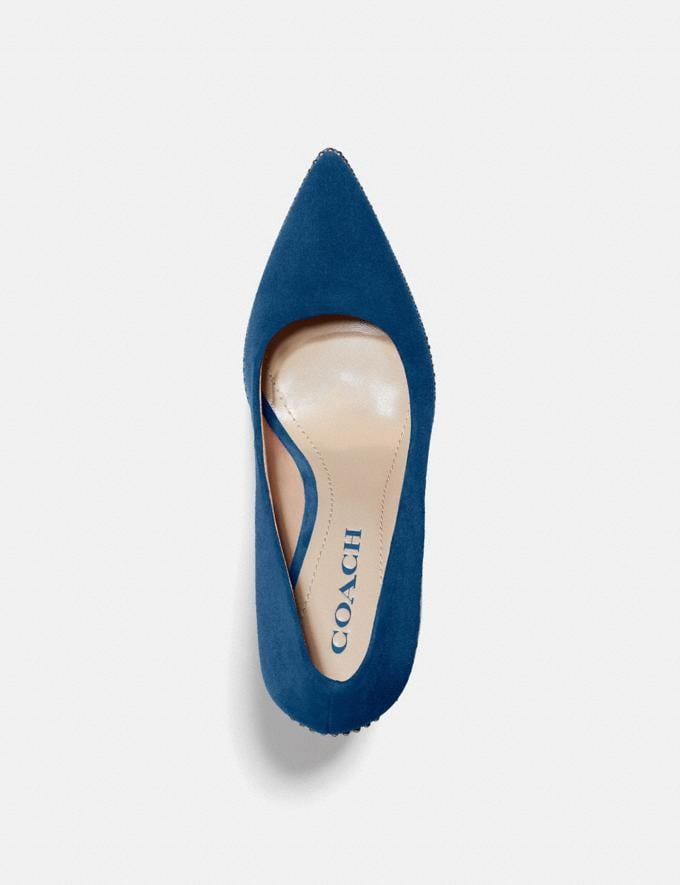 Coach Waverly Pump Ocean Women Shoes Heels Alternate View 2