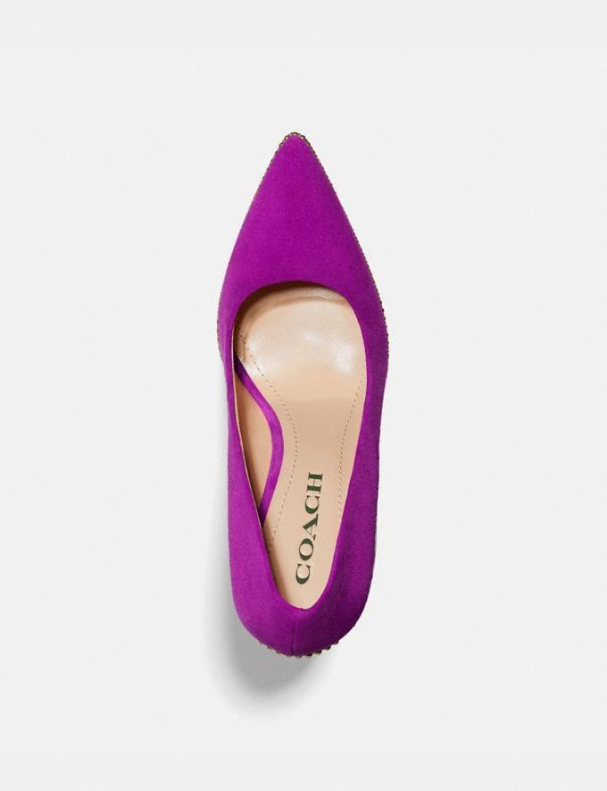 Coach Waverly Pump Dark Magenta Women Shoes Heels Alternate View 2