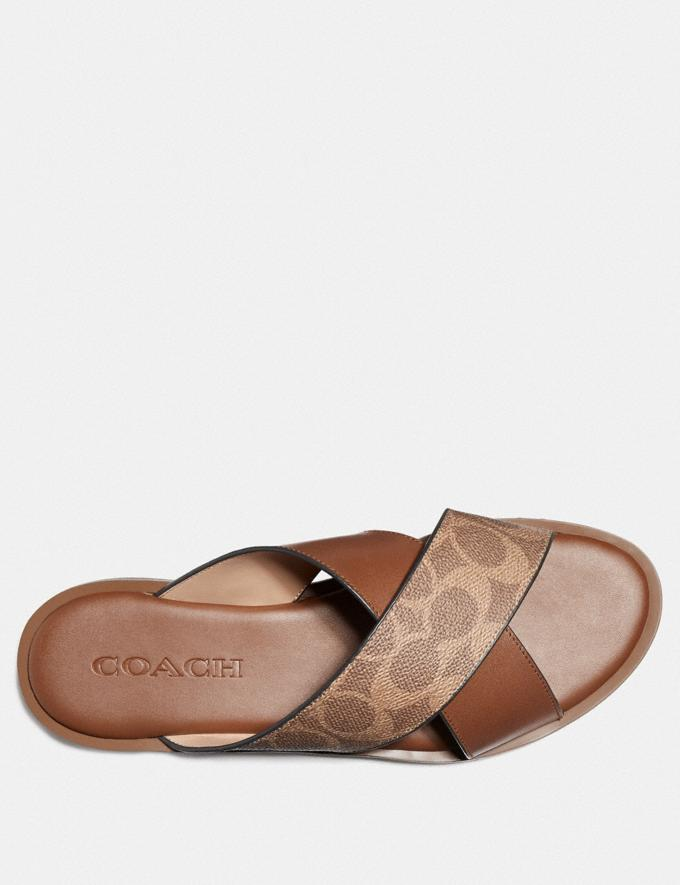 Coach Hailey Slide Tan/Saddle Women Shoes Flats Alternate View 2