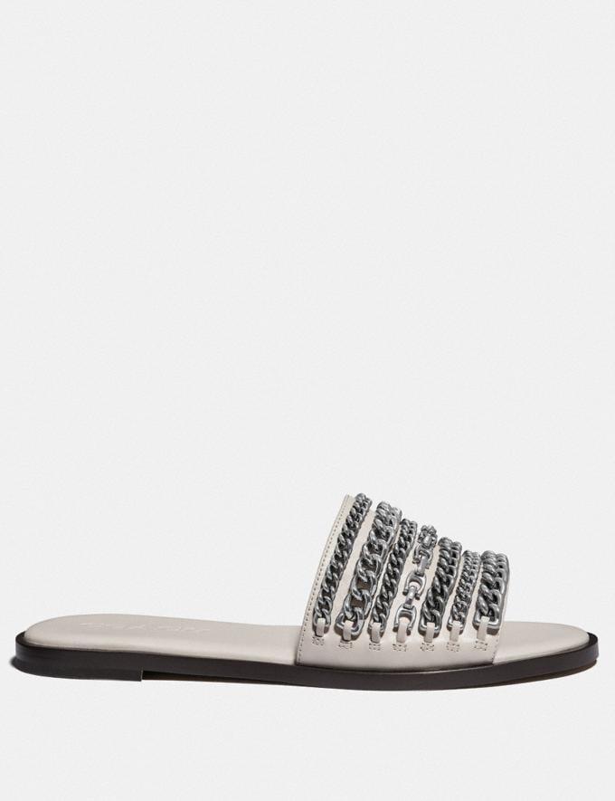 Coach Hayden Flat Sandal Chalk Femme Chaussures Chaussures plates Autres affichages 1