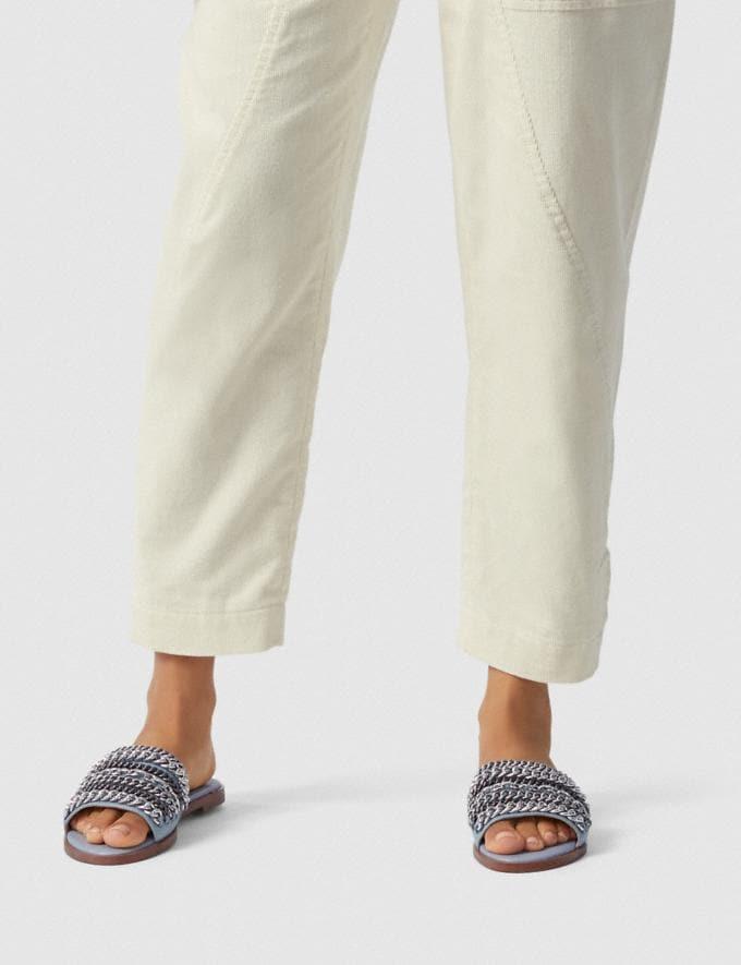 Coach Hayden Flat Sandal Chalk SALE Women's Sale Shoes Alternate View 4