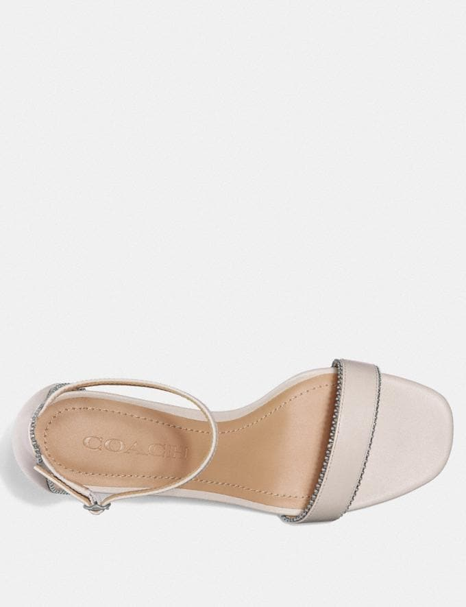 Coach Maddie Sandal Chalk New Women's New Arrivals Shoes Alternate View 2