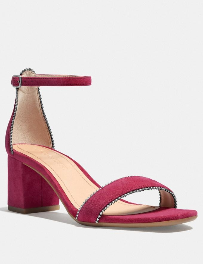 Coach Maddie Sandal Bright Cherry New Women's New Arrivals Shoes