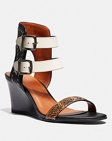 ODESSA WEDGE WITH SNAKESKIN DETAIL