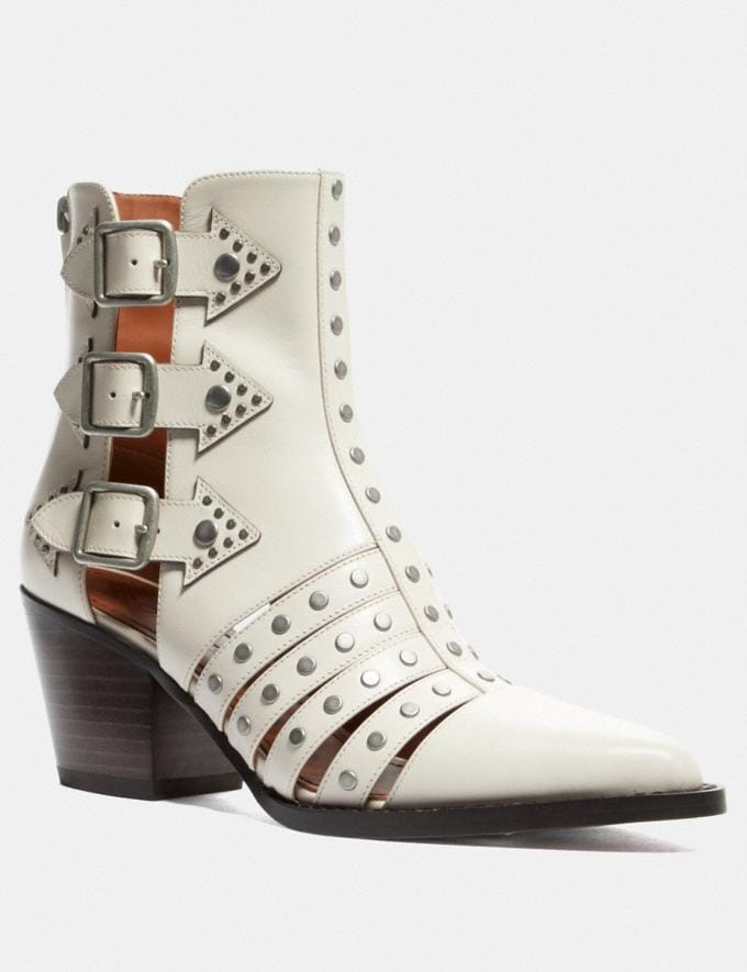 Coach Pheobe Bootie Chalk Women Shoes Boots
