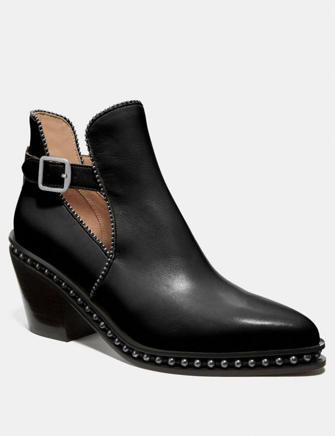Coach Pipa Bootie Black Women Shoes Boots