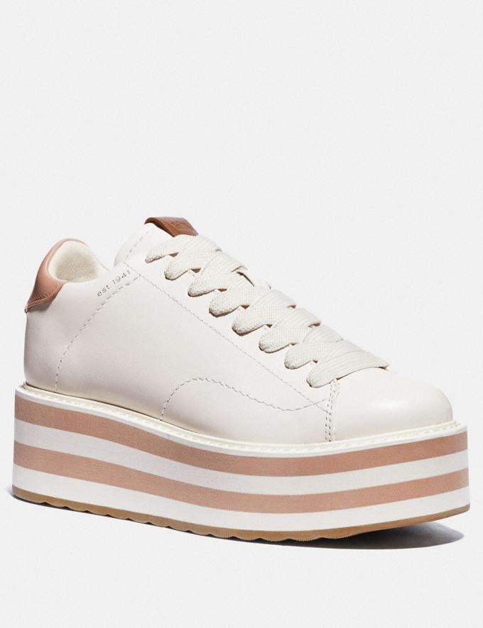 Coach C101 Platform Sneaker Chalk/Pale Blush Nouveautés Tendances pour hommes Denim