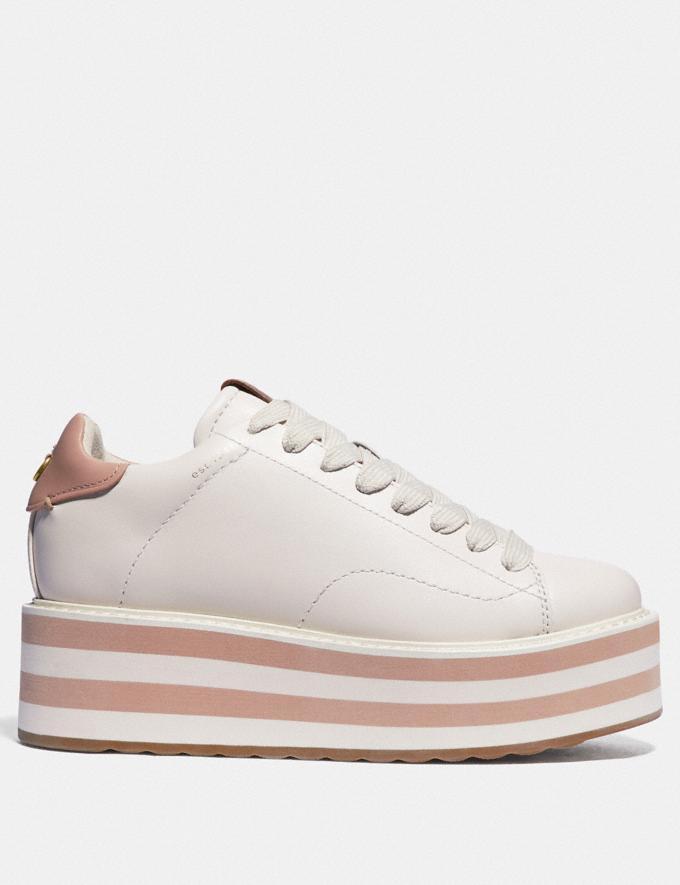 Coach C101 Platform Sneaker Chalk/Pale Blush Novità Tendenze uomo Denim Visualizzazione alternativa 1