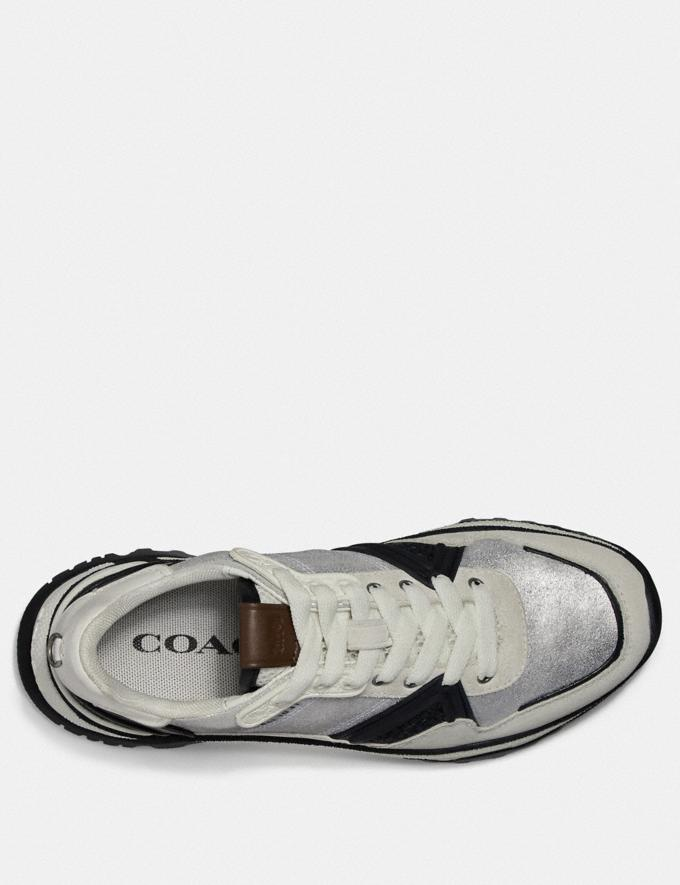 Coach C143 Runner White/Silver  Alternate View 2