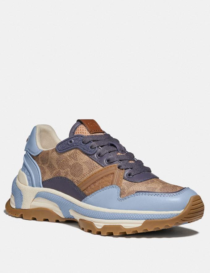 Coach C143 Runner Mist/Tan Damen Schuhe Sneaker