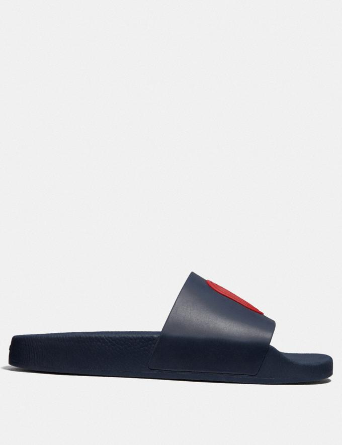 Coach Slide With Coach Patch Navy Men Shoes Alternate View 1