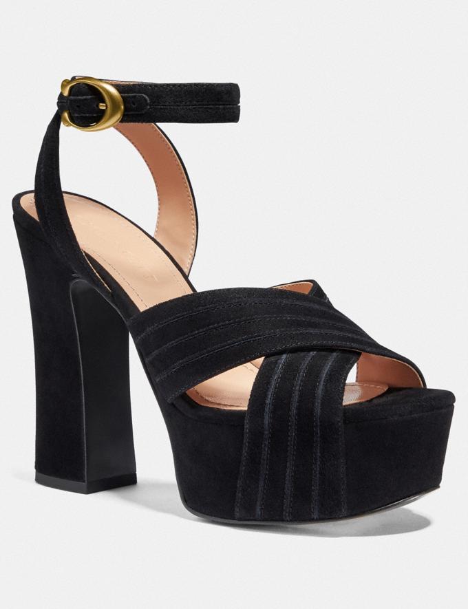 Coach Denna Sandal Black Women Shoes Heels