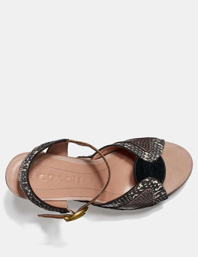 Coach Platform Sandal in Snakeskin Beechwood/Nude Pink/Chalk  Alternate View 2