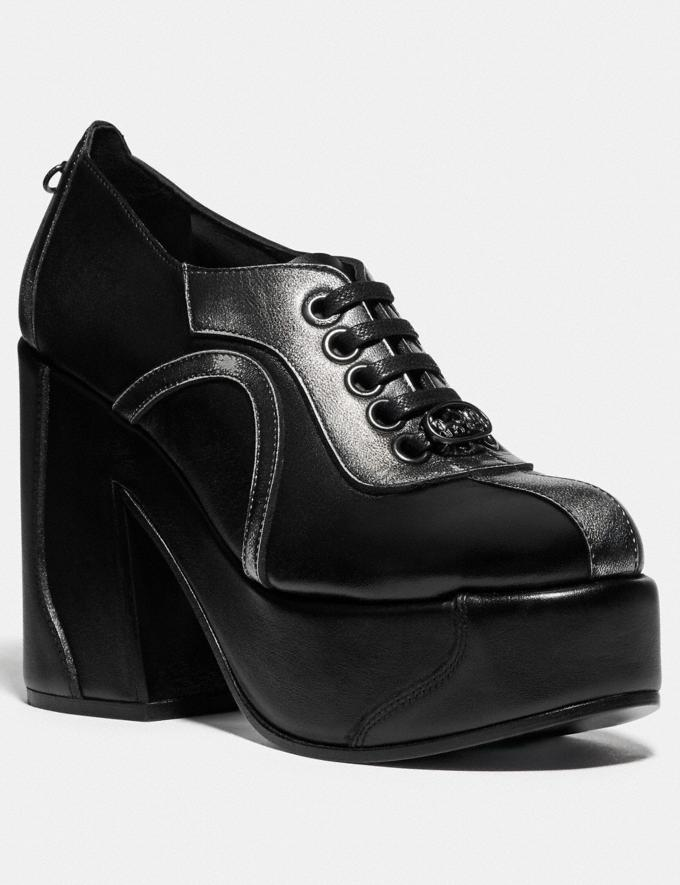 Coach Platform Oxford Black/Gunmetal SALE Women's Sale Shoes