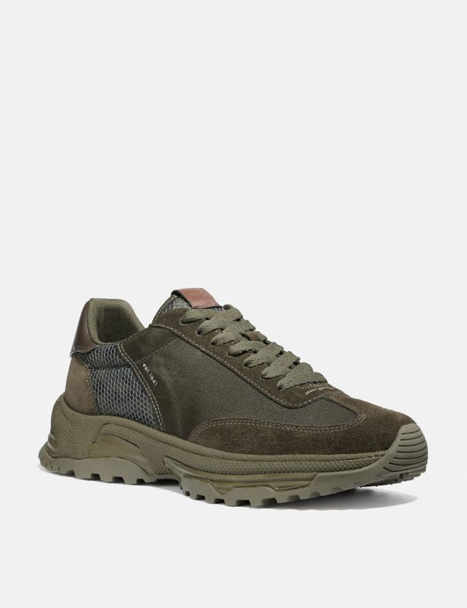 Coach C155 Paneled Runner With Wild Beast Print Wild Beast New Men's New Arrivals Shoes